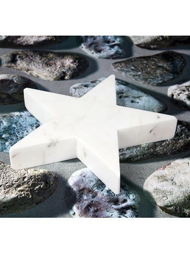 3Wdesign Yıldız Mermer Orta Boy Obje Beyaz